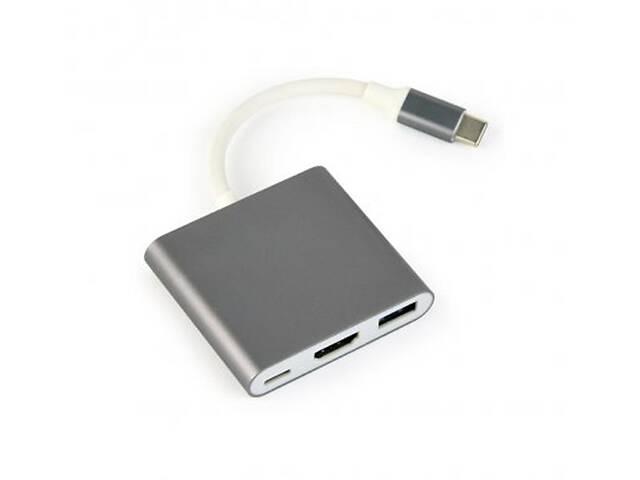 продам Адаптер Cablexpert (A-CM-HDMIF-02-SG) USB-C - HDMI/USB/USB-C бу в Харькове