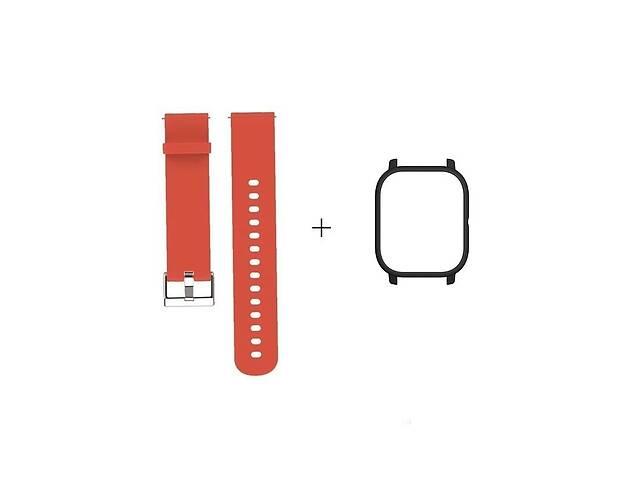 бу Amazfit GTS Комплект для смарт годин (ремінець і бампер), Orange-Black в Запоріжжі