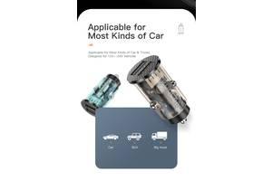 Автомобильное зарядное устройство KUULAA 17W 2xUSB QC 3.0 быстрая зарядка для телефона прикуриватель