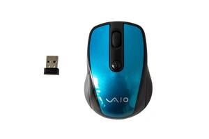 Беспроводная мышь SONY 2.4 G Черная с синим