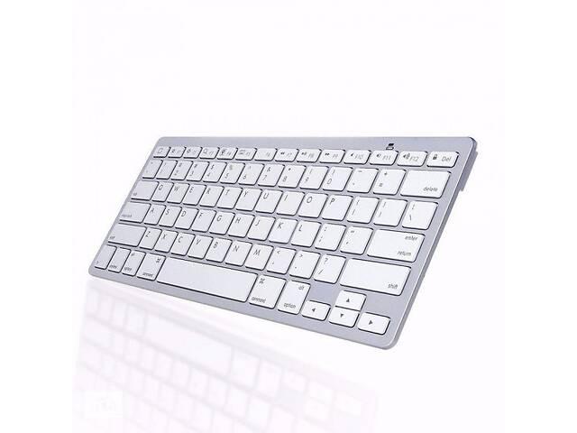 купить бу Bluetooth беспроводная клавиатура для телевизора планшета и смартфона ноутбука UKC X5 RUS с русскими буквами Белая (p... в Киеве