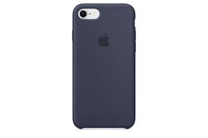 Чехол Apple Silicone Case для iPhone 8 Midnight Blue