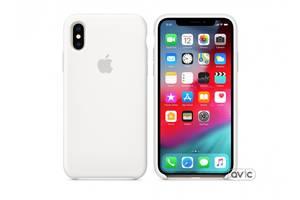 Чехол для Apple iPhone XS Silicone Case White (MRW82)