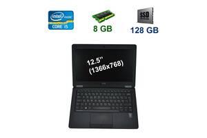"""Dell Latitude E7250 / 12.5"""" (1366x768) LED / Intel Core i5-5300U (2 (4) ядра по 2.3 - 2.9 GHz) / 8 GB DDR3 / 128 GB S..."""