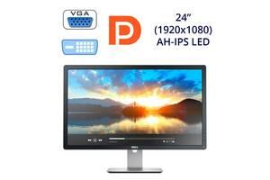 "Монитор Dell P2414H / 24"" (1920x1080) AH-IPS LED / 1x VGA, 1x DVI, 1x DP, 1x USB-Hub"
