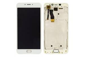 Дисплей (LCD) Meizu M5 Note (M621) с сенсором белый