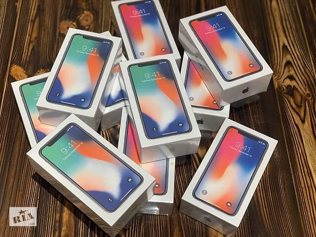 продам Iphone X 64/256GB НОВЫЙ Запечатанный Neverlock 1 ГОД Гарантии!!! бу в Белой Церкви