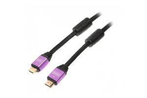 Кабель мультимедийный HDMI to HDMI 5.0m ferrite v.1.4 Cablexpert (VC-HDMI-510-5m)