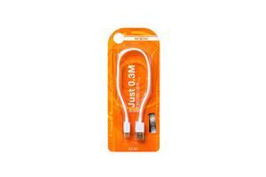 Кабель (провод) для зарядки смартфона/телефона USB MOXOM CC 50 Type-C 30 см Белый