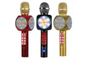 Караоке, мікрофон, с, блютузом, радіо, колонкою, світломузикою, акумуляторний, mp3 плеєр, usb