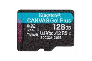Карта памяти Kingston 128GB microSD class 10 UHS-I U3 A2 Canvas Go Plus (SDCG3/128GBSP)