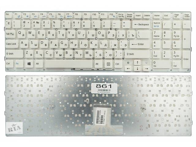 бу Клавиатура для ноутбука Sony VPC-EB Series белая без рамки Прямой Enter в Харькове