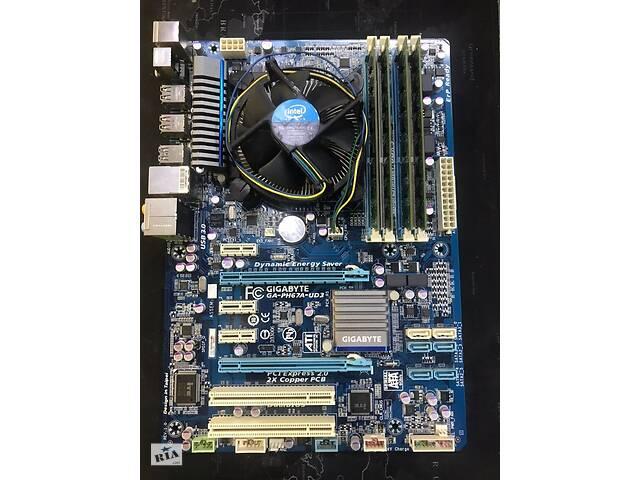 продам Комплект: материнская плата GIGABYTE GA-PH67A-UD3 с процессором Intel бу в Одессе