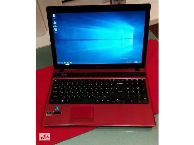 продам Красный, игровой ноутбук Acer Aspire 5742ZG бу в Киеве