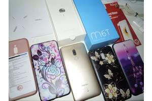 Meizu m6t золотистий повний комплект + 3 нових чохла + скло смартфон