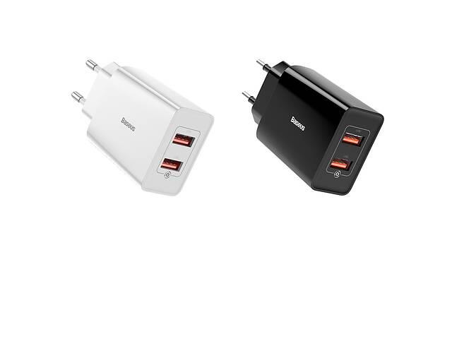 купить бу Мережевий зарядний пристрій Baseus Speed Mini QC Dual U Quick Charger 18W Black,White (CCFS-V01) в Самборе