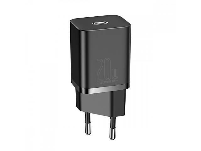 Мережевий зарядний пристрій Baseus Super Silicone PD Charger 20W (1Type-C) Black (CCSUP-B01)- объявление о продаже  в Самборе