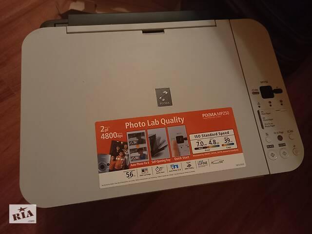продам МФУ (БФП) Принтер сканер ксерокс CANON PIXMA MP250 бу в Каменец-Подольском