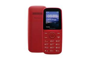 Мобильный телефон Philips Xenium E109 Dual Sim Red (CTE109RD_00); 1.77 (160x128) TN / клавиатурный моноблок / MediaTe...