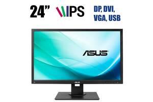 """Монитор Asus BE24A Silver / 24"""" (1920x1200) IPS WLED / DP, DVI, VGA, USB / встроенные колонки 2х1 Вт"""