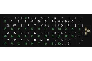 Наклейка на клавиатуру XoKo 109 клавиш Украинский / Английский / Русский