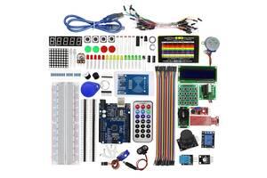 Обучающий набор для сборки на базе Arduino Uno R3 в кейсе (6046_gr)
