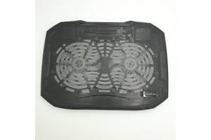 "Охлаждающая подставка для ноутбука N136 до 15.7"" с LED подсветкой 2 x 14см вентилятора Черный"