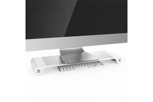 Подставка для ноутбука/монитора BeCover B9 с USB-портами Silver (704673)