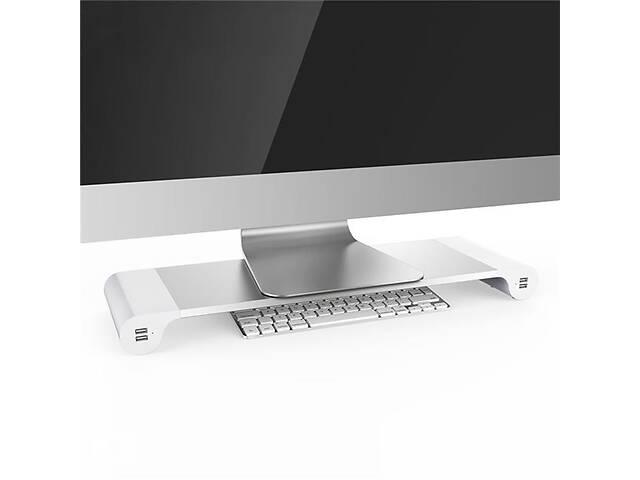 бу Подставка для ноутбука/монитора BeCover B9 с USB-портами Silver (704673) в Харькове