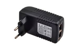 PoE адаптер инжектор питания камер RJ45 48В 0.5А