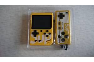 Портативная приставка с джойстиком Retro FC Game Box Sup dendy 400in1 желтая