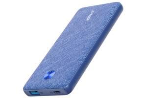 Портативное зарядное устройство Anker PowerCore Slim 10000 mAh PD Fabric Blue (6601058)