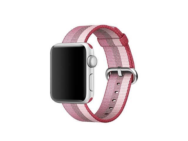 купить бу Ремешок для часов Apple Watch 42 мм 44 мм нейлоновый с пряжкой, Berry color в Запорожье