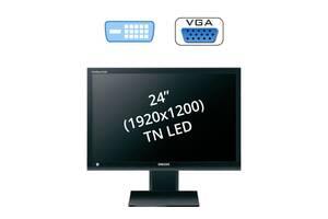 "Монитор Samsung S24A450BW / 24"" (1920x1200) TN LED / 1x DVI-D, 1x VGA"