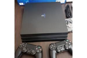 Sony Playstation 4 Pro 1TB з двома джойстиками + 56 Ігри