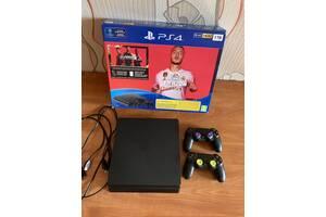 Sony PlayStation Slim 1 tb (2 геймпада) + підписка Ps Plus на 10 місяців