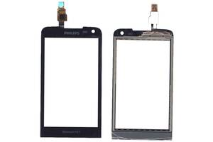Тачскрин (Сенсорное стекло) для смартфона Philips Xenium W736 черный