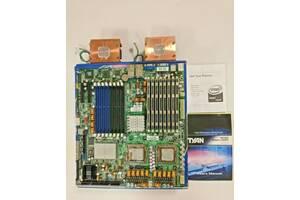 Tyan Tempest i5000PT (S5383WG4NR) + 2шт Xeon X5355 2.66ГГц + Кулера + 32ГБ DDR2 ECC RAM+Полный Заводской Комплект из США