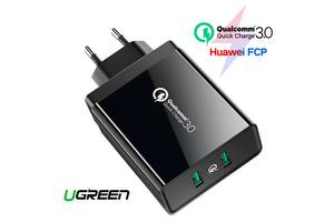 USB 2x сетевое зарядное устройство QC3.0, 5/9/12В 36Вт Ugreen CD161