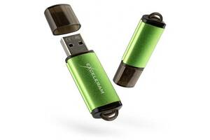USB флеш накопитель eXceleram 32GB A3 Series Green USB 2.0 (EXA3U2GR32)