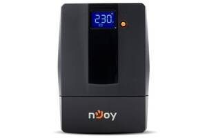 ИБП NJOY Horus Plus 600, Lin.int., AVR, 2 x евро, USB, LCD, пластик