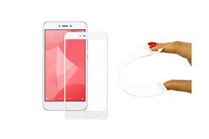 Защитное 5D cтекло Nano Flexible GLASS ITOP для Xiaomi Redmi Note 4X Full Cover Белый