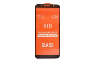Защитное стекло 21D Full Glue для Asus Zenfone Max Pro (M1) / ZB601KL / ZB602KL черное 0,3 мм в упаковке