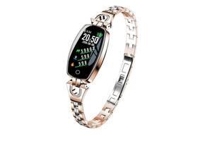 Женские умные фитнес часы Smart bandi 8 Pro Смарт часы с измерением пульса и давления Gold (11764-ST)