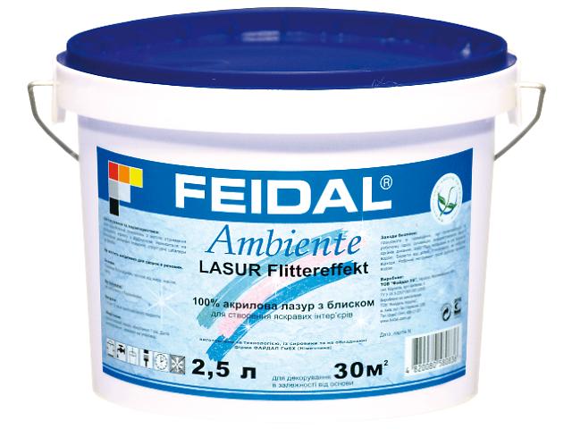Декоративная 100% акриловая глянцевая лазурь с блестками для внутренних работ.- объявление о продаже  в Житомире