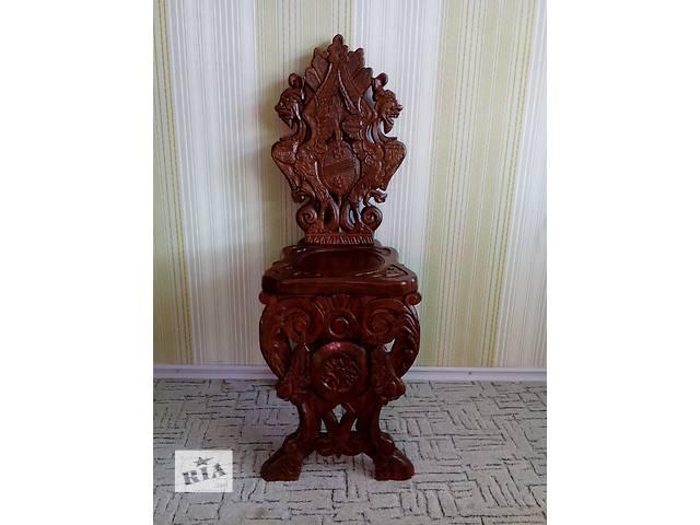 купить бу Деревянный стул резной в Запорожье
