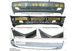 Новые Молдинги заднего/переднего бампера Mercedes C-Class