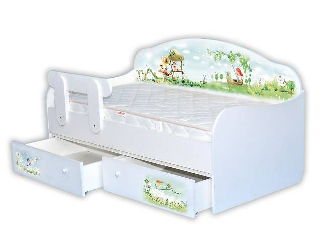 купить бу Детская Кровать-диванчик с ящиками в Киеве