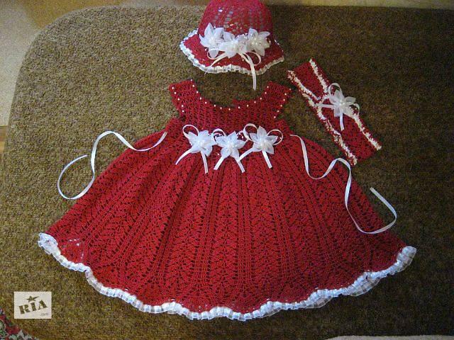 продам Детское вязанное платье бу в Запорожье