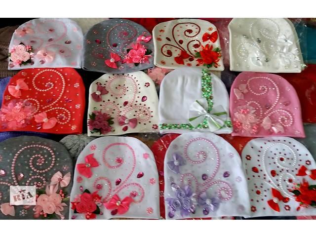 продам Дитячі трикотажні шапочки Квіти і камені дівчаткам від 3 років до  дорослих розмірів бу в 223f1caea0838